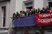 LAURA ALVAREZ, JEREMY CORBIN,  ROYAL COUNTY HOTEL, , The Durham Miners Gala, Durham. 13 July 2019