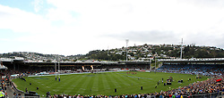 General ground view of Carisbrook..Investec Super Rugby - Highlanders v Crusaders, 19 March 2011, Carisbrook Stadium, Dunedin, New Zealand..Photo: Rob Jefferies / www.photosport.co.nz