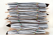 stack office papers