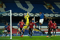 Football - 2020 / 2021 League Cup - Quarter-Final - Everton vs Manchester United - Goodison Park<br /> <br /> Manchester United's Dean Henderson collects the ball<br /> <br /> <br /> COLORSPORT/TERRY DONNELLY