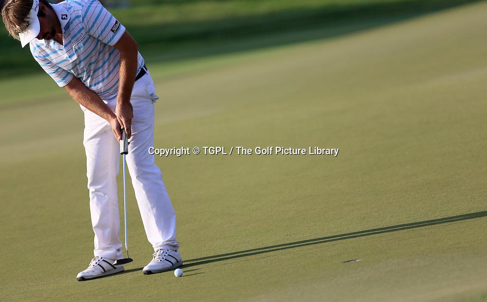 Victor DUBISSON (FRA) during third round DP World Tour Championship 2013,Jemeirah Golf Estates, Dubai,UAE.