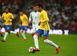 November 14, 2017 - London, England, United Kingdom - Neymar of Brazil ..during International Friendly match between England and Brazil at Wembley stadium, London on 14 Nov , 2017  (Credit Image: © Kieran Galvin/NurPhoto via ZUMA Press)