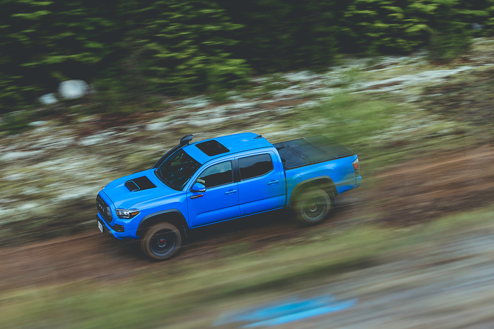 2018 Toyota Tundra photographed on a forrest service road in northern British Columbia.