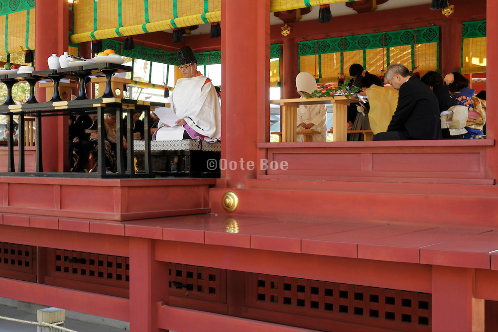 traditional Shinto wedding ceremony Kamakura Japan