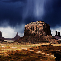 Rain Cloud at John Ford Point Monument Valley