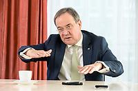 27 NOV 2020, BERLIN/GERMANY:<br /> Armin Laschet, CDU, Ministerpraesident Nordrhein-Westfalen, waehrend einem Interview, Landesvertretung Nordrhein-Westfalen<br /> IMAGE: 20201127-01-015