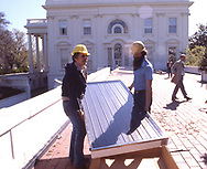 On a June day in 1979, Jimmy Carter unveiled 32 thermal solar panels perched atop the roof of the West Wing of the White House. <br /><br />Photograph ny Dennis Brack. bb78