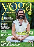 Krishnatakis at the Yoga Journal Germany Cover. February 2014