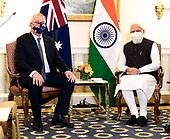 September 23, 2021 - AUS/DC: Prime Minister Scott Morrison Meets with Prime Minister Narendra Modi