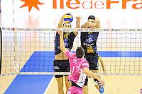 Nikola Gjorgiev / Jorge Fernandez - 20.12.2014 - Paris Volley / Sete - 12eme journee de Ligue A<br /> Photo : Andre Ferreira / Icon Sport