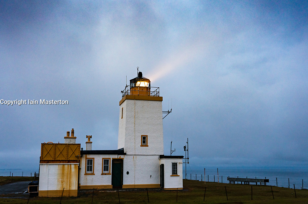 Lighthouse at Eshaness on Northmavine, north mainland, Shetland, Scotland, UK