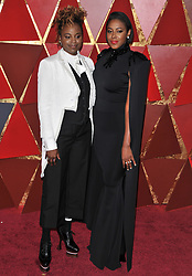 Dee Rees and Sarah Broom walking on the red carpet during the 90th Academy Awards ceremony, presented by the Academy of Motion Picture Arts and Sciences, held at the Dolby Theatre in Hollywood, California on March 4, 2018. (Photo by Sthanlee Mirador/Sipa USA)