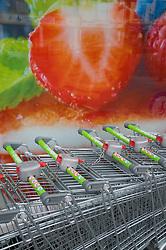 Co-operative supermarket trolley UK
