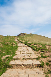 Mam Tor in the Peak District National Park deserted over the Easter weekend as people heed the government advice to Stay home and only make necessary Journeys during the UK's Covid-19 Emergency Measures<br /> <br /> 11 April 2020<br /> <br /> www.pauldaviddrabble.co.uk<br /> All Images Copyright Paul David Drabble - <br /> All rights Reserved - <br /> Moral Rights Asserted -