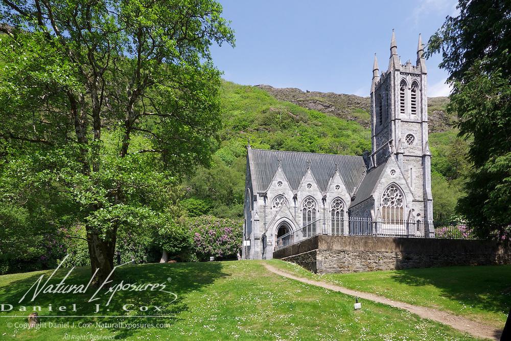 Kylemore Abbey Gothic Church. Ireland.