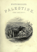 Engraving on steel of a Well at Nazareth from Picturesque Palestine, Sinai and Egypt by Wilson, Charles William, Sir, 1836-1905; Lane-Poole, Stanley, 1854-1931 Volume 2. Published in New York by D. Appleton in 1881-1884