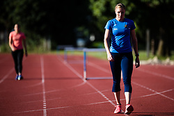 Maja Mihalinec during warm up during day one of the 2020 Slovenian Cup in ZAK Stadium on July 4, 2020 in Ljubljana, Slovenia. Photo by Grega Valancic / Sportida