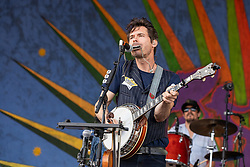 May 3, 2018 - New Orleans, Louisiana, U.S - KETCH SECOR and CORY YOUNTS of Old Crow Medicine Show during 2018 New Orleans Jazz and Heritage Festival at Race Course Fair Grounds in New Orleans, Louisiana (Credit Image: © Daniel DeSlover via ZUMA Wire)
