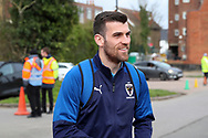 AFC Wimbledon attacker Adam Roscrow (10) arriving for the game during the EFL Sky Bet League 1 match between AFC Wimbledon and Bolton Wanderers at the Cherry Red Records Stadium, Kingston, England on 7 March 2020.
