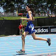 Lauryn Heskin, USA, winning the one mile Women Youth Girls competition  at the Diamond League Adidas Grand Prix at Icahn Stadium, Randall's Island, Manhattan, New York, USA. 13th June 2015. Photo Tim Clayton