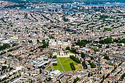 Nederland, Noord-Holland, Amsterdam, 29-06-2018; Amsterdam Oud-Zuid, Museumkwartier, Museumplein. Zicht op de grachtengordel en binnenstad.<br /> <br /> luchtfoto (toeslag op standard tarieven);<br /> aerial photo (additional fee required);<br /> copyright foto/photo Siebe Swart