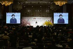 March 24, 2019 - Tokyo, Japan - Akie Abe wife of the Japanese Prime Minister Shinzo Abe, speaks during the 5th World Assembly for Women (WAW!) in Tokyo. This year the WAW! in collaboration with the Women 20 (W20), one of the G20 engagement groups established to make recommendations to G20, invited female leaders from politics, business and society to discuss the roles of women in their countries and affiliations. The event is held from March 23 to 24 at the Hotel New Otani Tokyo. (Credit Image: © Rodrigo Reyes Marin/ZUMA Wire)