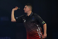 Nick Kenny (Wales) during the William Hill World Darts Championship at Alexandra Palace, London, United Kingdom on 20 December 2020.
