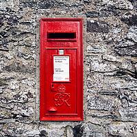 July 2016 Ullswater , Cumbria - Post box on the  Ullswater Way in Cumbria