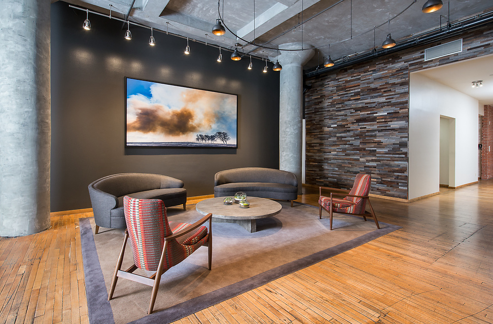 Commercial building lobby, photography for real estate brokers, agents and investment portfolios