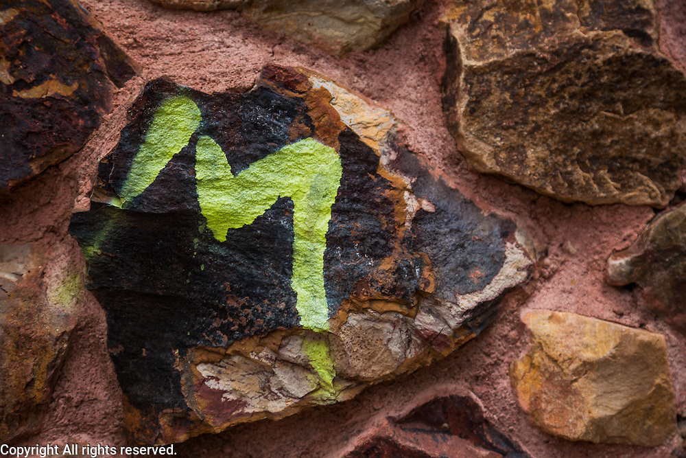 Somehow it seems much worse to me to see the graffiti on natural surfaces like stone or plants (some people even paint their graffiti on saguaros).