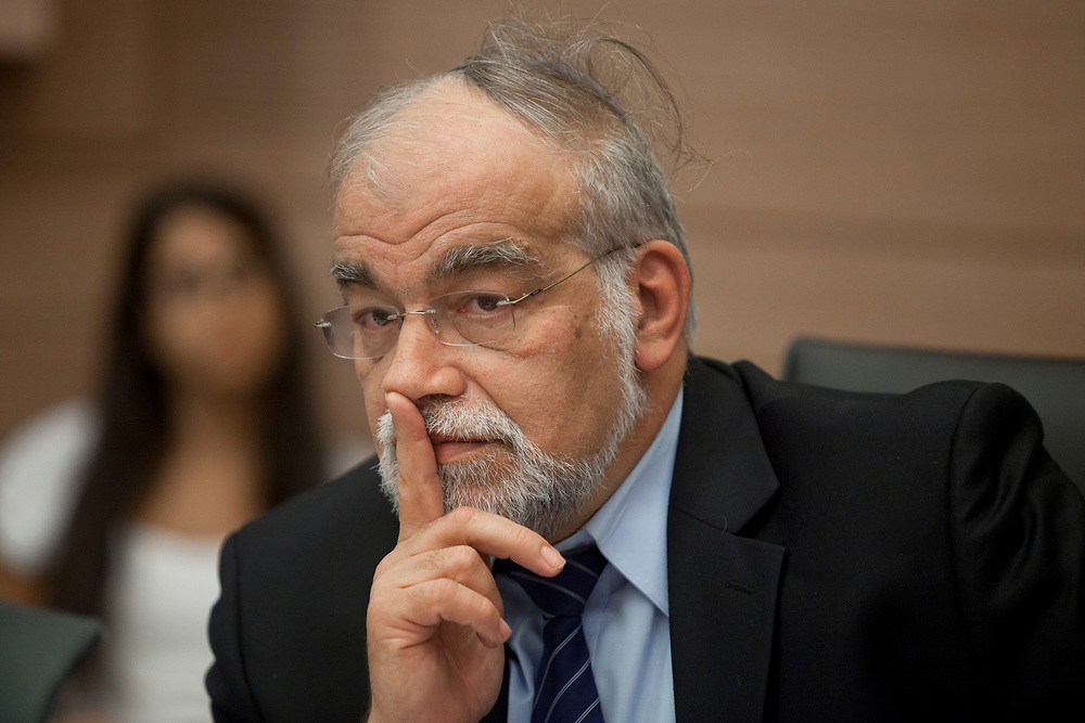 Israeli lawmaker David Rotem, at the Knesset, Israel's parliament in Jerusalem, on October 10, 2011.