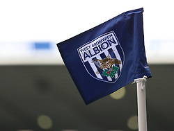 West Bromwich Albion corner flag blows in the breeze