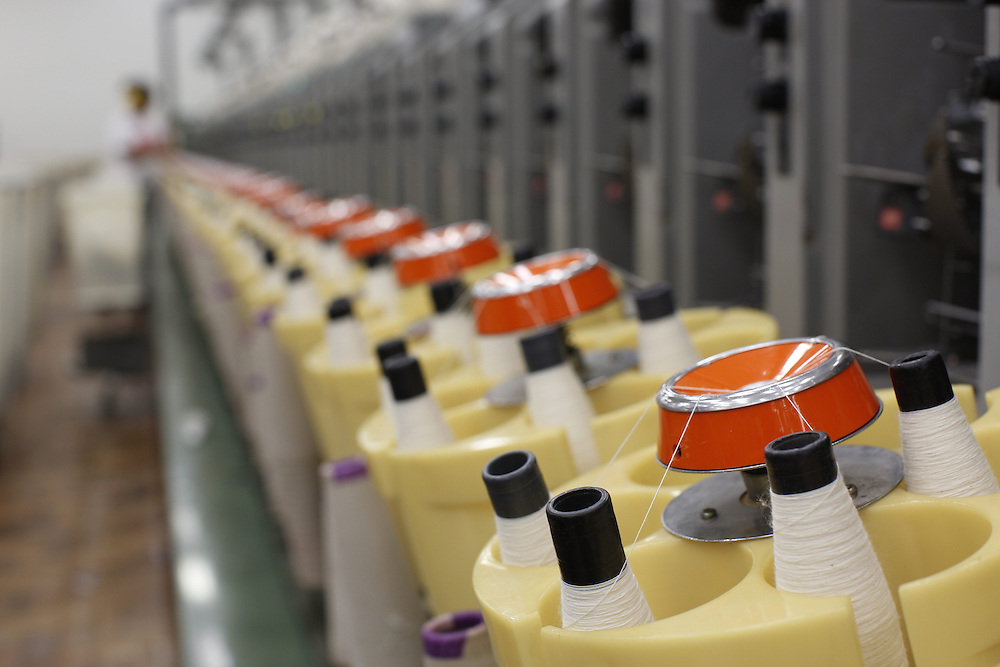 Montes Claros_MG, Brasil.<br /> <br /> Na foto, detalhe das conicaleiras no setor de fiacao da fabrica de Tecidos em Montes Claros, Minas Gerais.<br /> <br /> The textile factory in Montes Claros, Minas Gerais.<br /> <br /> Foto: LEO DRUMOND / NITRO