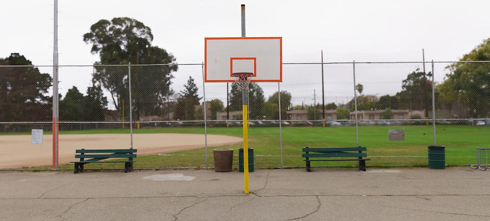 Basketball Hoop in Park. (40773 x 18381 pixels)
