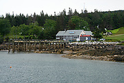 The dock at the Isle au Haut General Store, Maine.