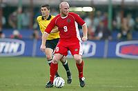 Fotball<br /> EM-kvalifisering<br /> 06.09.2003<br /> Italia v Wales<br /> NORWAY ONLY<br /> Foto: Digitalsport<br /> <br /> FOOTBALL - EURO 2004 - ELIMINATORIES ROUND - GROUP 9 - ITALY v WALES - 030906 - JOHN HARTSON (WAL) - PHOTO JEAN MARIE HERVIO