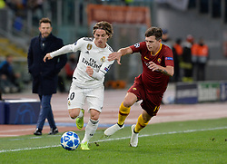 November 27, 2018 - Rome, Italy - Luka Modric and Ante Coric during the UEFA Champions League match group G between AS Roma and Real Madrid FC at the Olympic stadium on november 27, 2018 in Rome, Italy. (Credit Image: © Silvia Lore/NurPhoto via ZUMA Press)