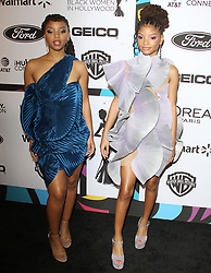 12th Annual Essence Black Women In Hollywood Awards Luncheon. 21 Feb 2019 Pictured: Chloe Bailey, Halle Bailey . Photo credit: MEGA TheMegaAgency.com +1 888 505 6342