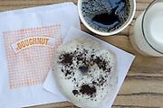 Plated food and doughnuts at BIRD
