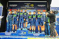 Equipe Movistar - 17.03.2015 - Tirreno Adriatico - Etape 07 : San Benedetto del Tronto - CLM<br /> Photo : Sirotti / Icon Sport<br />   *** Local Caption ***