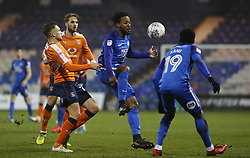 Jermaine Anderson of Peterborough United in action against Luton Town - Mandatory by-line: Joe Dent/JMP - 09/01/2018 - FOOTBALL - Kenilworth Road - Luton, England - Luton Town v Peterborough United - Checkatrade Trophy