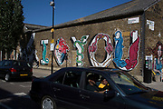 I love you, Street art by in Hackney Wick, East London, United Kingdom. Street art in the East End of London is an ever changing visual enigma, as the artworks constantly change, as councils clean some walls or new works go up in place of others. While some consider this vandalism or graffiti, these artworks are very popular among local people and visitors alike, as a sense of poignancy remains in the work, many of which have subtle messages. (photo by Mike Kemp/In Pictures via Getty Images)