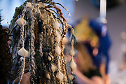 """Details of one of the many hair sculptures during """"Hair Affair: The Art of Hair"""" at Madison Museum of Contemporary Art in Madison, WI on Thursday, April 25, 2019. The sixth biennial brought an array of designers and stylists from across Wisconsin to create under the theme of """"Zodiac."""""""