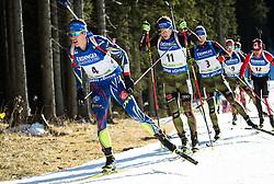 Quentin Fillon Maillet (FRA), Andreas Birnbacher (GER), Simon Schempp (GER)  during Men 15 km Mass Start at day 4 of IBU Biathlon World Cup 2015/16 Pokljuka, on December 20, 2015 in Rudno polje, Pokljuka, Slovenia. Photo by Vid Ponikvar / Sportida