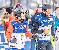 25.01.2020, Streif, Kitzbühel, AUT, FIS Weltcup Ski Alpin, im Rahmen der KitzCharityTrophy 2020 am Samstag, 25. Jänner 2020, auf der Streif in Kitzbühel. // f.l. Helene Berger and Marco Büchel during the KitzCharityTrophy 2020 at the Streif in Kitzbühel, Austria on 2020/01/25, im Bild v.l. Helene Berger, Marco Büchel // f.l. Helene Berger and Marco Büchel during the KitzCharityTrophy 2020 at the Streif in Kitzbühel, Austria on 2020/01/25. EXPA Pictures © 2020, PhotoCredit: EXPA/ Stefan Adelsberger