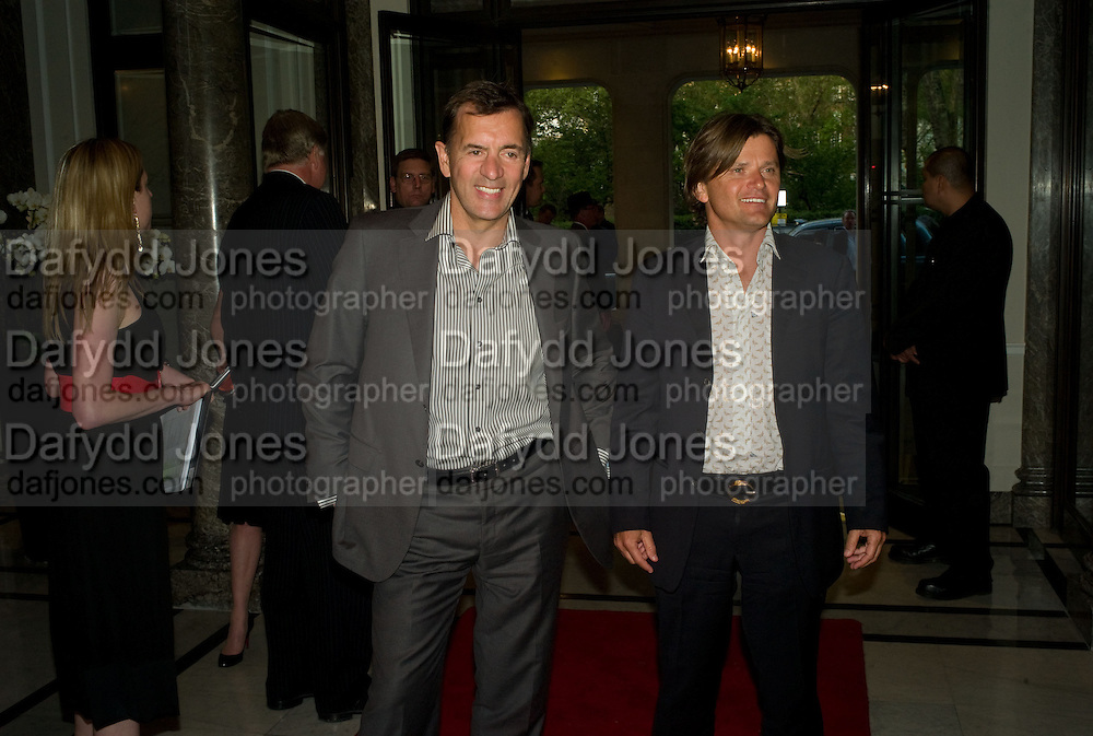 DUNCAN BANNANTYNE AND RICHARD FARLEY, The Spectator 180th Anniversary party, at the Churchill Hotel, London, 7 May 2008.  *** Local Caption *** -DO NOT ARCHIVE-© Copyright Photograph by Dafydd Jones. 248 Clapham Rd. London SW9 0PZ. Tel 0207 820 0771. www.dafjones.com.