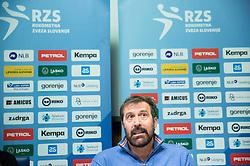 Veselin Vujovic, head coach of Slovenian National Handball Men Team during press conference of Slovenian Handball Federation RZS, on April 19, 2017 in Telekom Slovenije, Ljubljana, Slovenia. Photo by Vid Ponikvar / Sportida