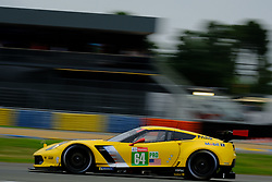 June 15, 2018 - Le Mans, Sarthe, France - Corvette Racing GM USA Chevrolet Corvette C7.R Driver TOMMY MILNER (USA) in action during the 86th edition of the 24 hours of Le Mans 2nd round of the FIA World Endurance Championship at the Sarthe circuit at Le Mans - France. (Credit Image: © Pierre Stevenin via ZUMA Wire)