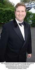 WILLIAM ASPREY at a ball in London on 13th May 2004.PUD 112