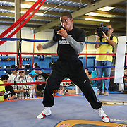 ORLANDO, FL - Felix Verdejo shadow boxes in the ring during a media day workout at the Orlando Sports Martial Arts Academy on October 2, 2014 in Orlando, Florida. (Photo by Alex Menendez/Getty Images) *** Local Caption *** Felix Verdejo